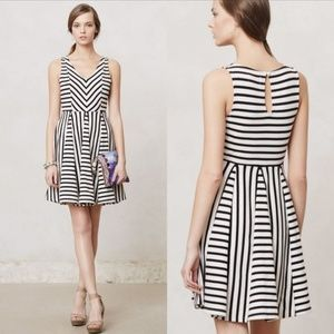 Anthropologie Saturday Sunday striped day dress S
